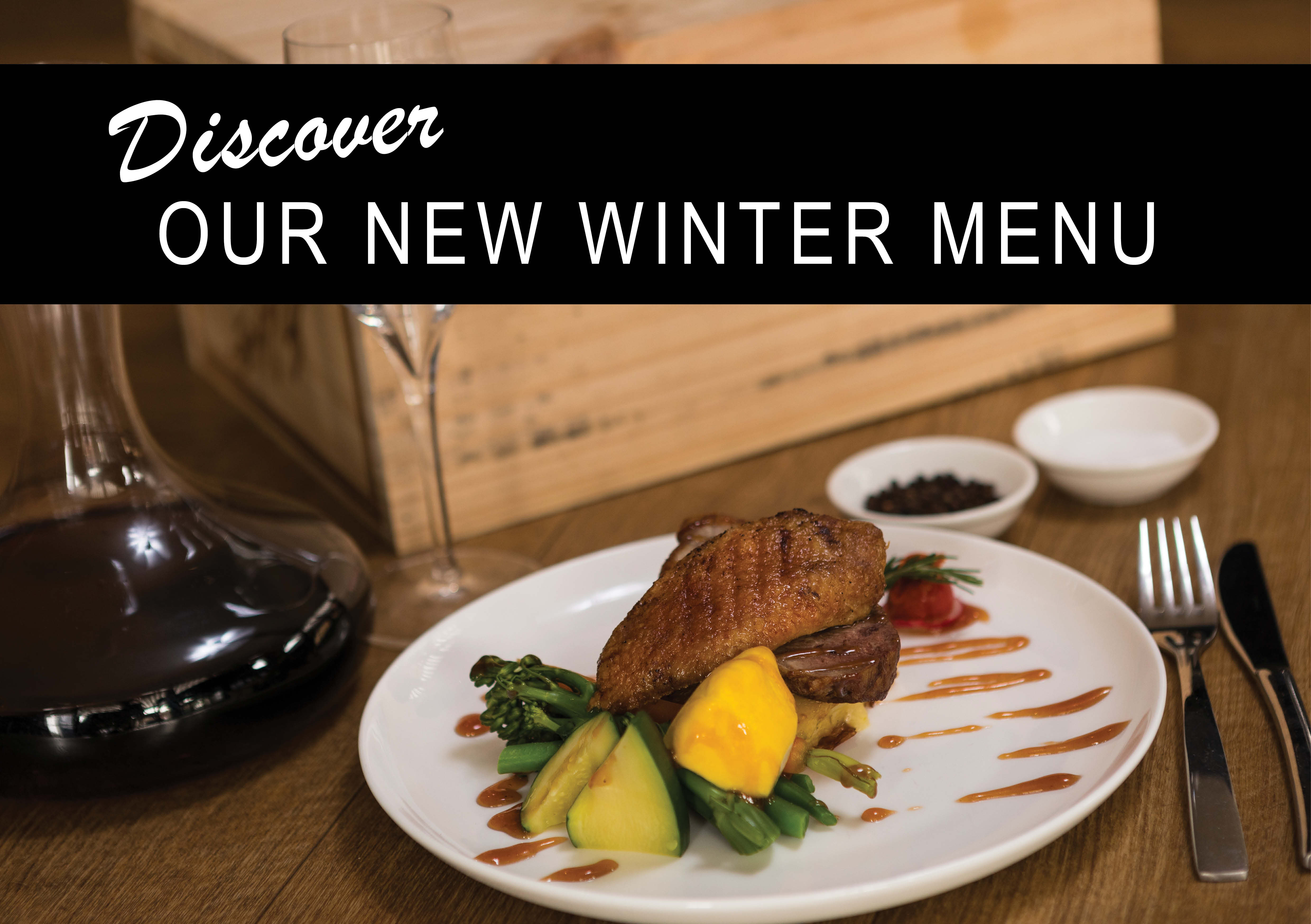 Potter's Boutique Hotel Toowoomba - New Winter Menu